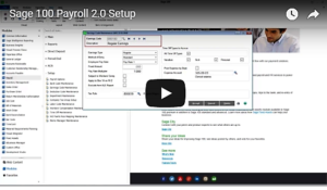 Sage 100 Payroll 2.0 Setup Video