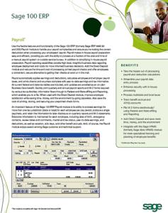 Sage 100 ERP Payroll