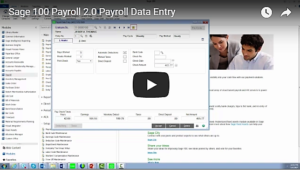 Sage 100 Payroll 2.0 Data Entry Video