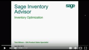 Sage Inventory Advisor Demo